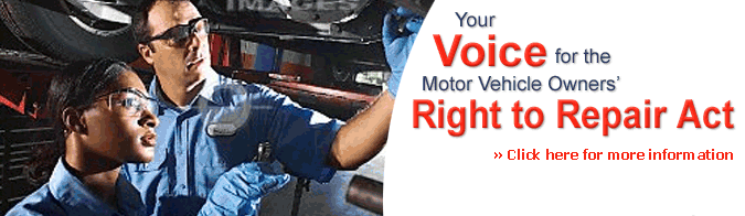 Your Voice for the Motor Vehcile Owners' Right to Repair Action